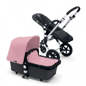 Poussette Bugaboo Cameleon 3 Rose pale chassis alu