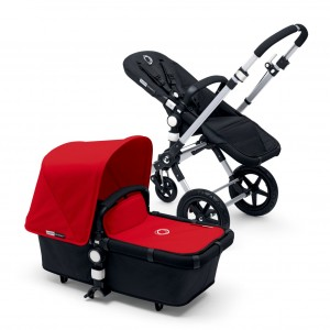 Poussette Bugaboo Cameleon 3 rouge chassis alu
